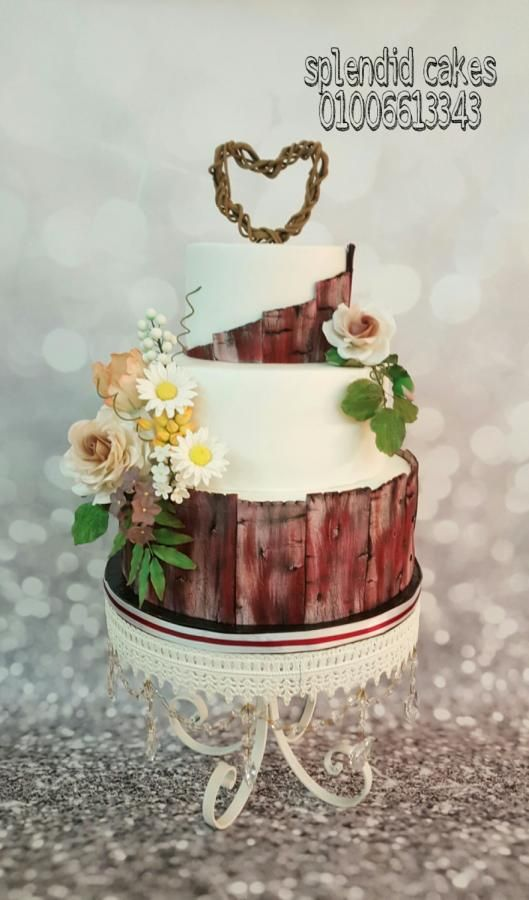 Wooden cake  by Reham22 - http://cakesdecor.com/cakes/259041-wooden-cake