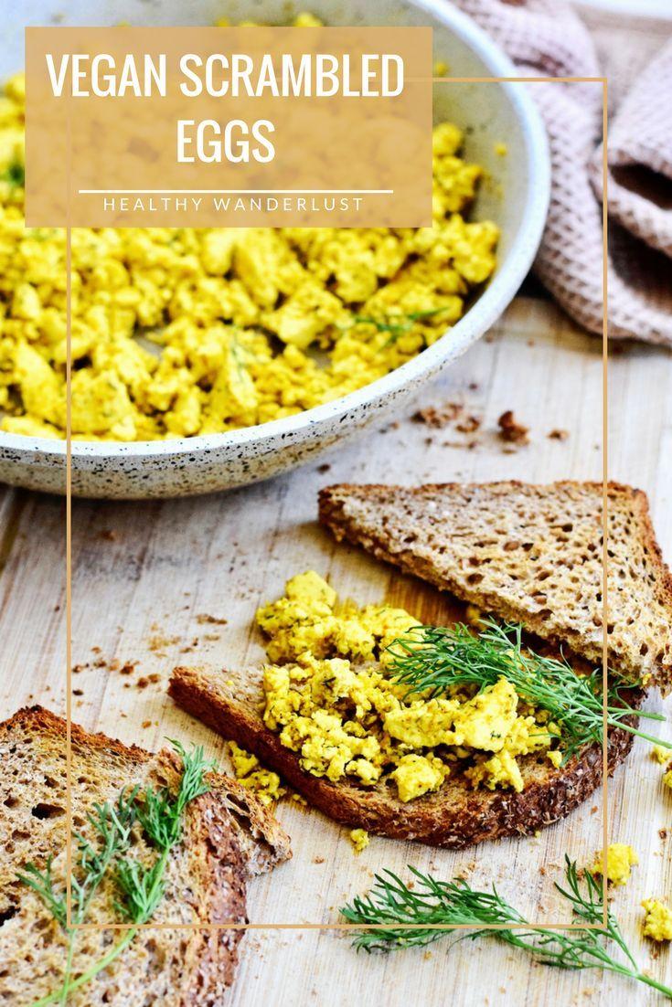 Het recept voor de vegan scrambled (tofu) eggs vind je op www.HealthyWanderlust.nl   Health blog