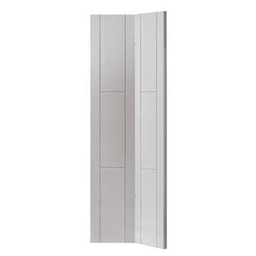 The Limelight Mistral White Primed Bi-fold Door is a perfect space saving option with a stylish groove design. #mistralbifold #mistralwhitedoor