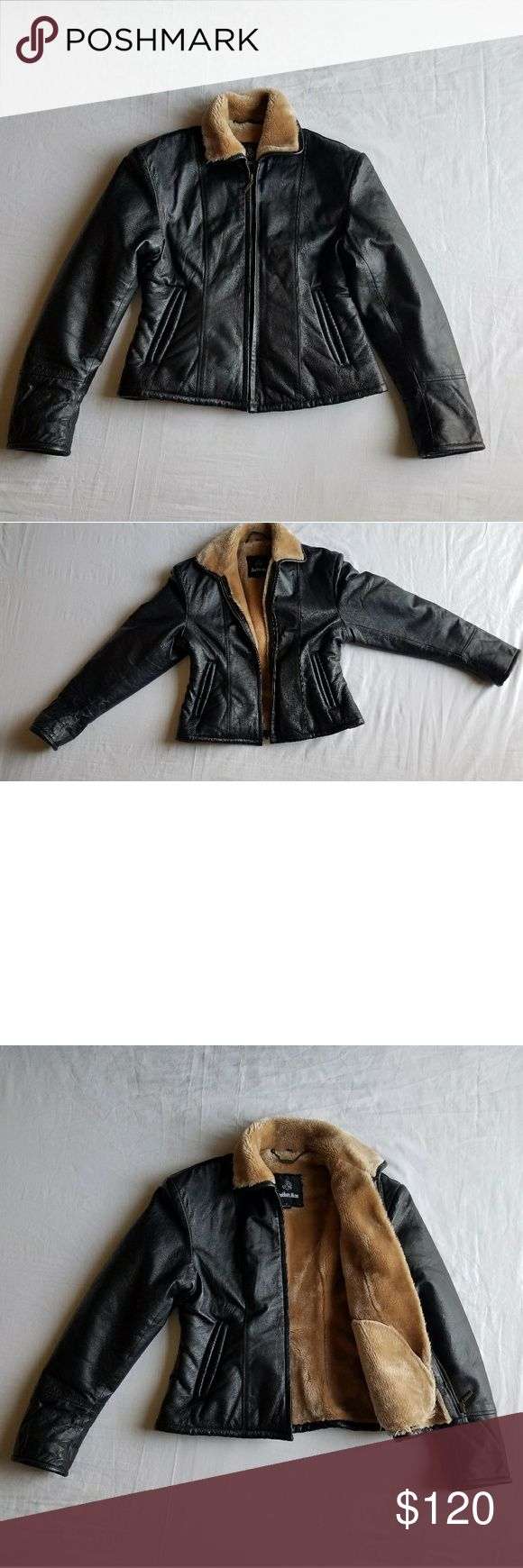 Leather Man Genuine Size M  LadiesJacket Black Black hipsters jacket size M. Really warm . Worn as formal and casual wear. leather Man Jackets & Coats Jean Jackets