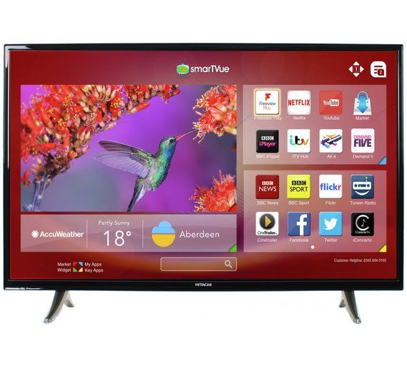 Buy Hitachi 32 Inch HD Ready Freeview Play Smart LED TV at Argos.co.uk, visit Argos.co.uk to shop online for Televisions, Televisions and accessories, Technology