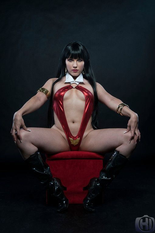 Very hot vampire cosplay stripper live stage 10