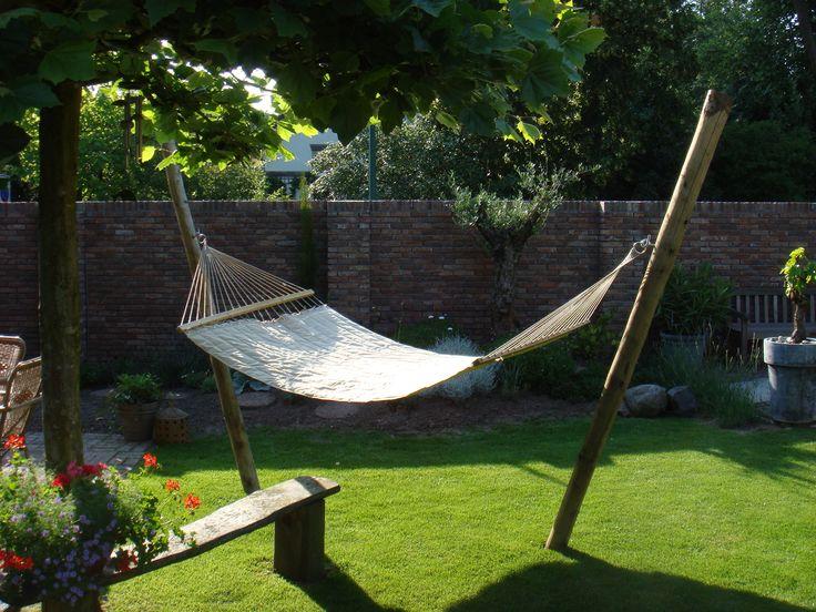 Hangmat! Lekker voor de meiden om in te zonnen.