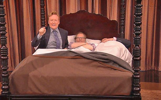"Did you know famed interviewer Larry King has his own line of luxurious bed linens called ""Sleep Like a King""? Well, now you do thanks to Conan O'Brien. When King stopped by Conan on Thursday, O'Brien decided to ask King about this latest business venture, which he started with his wife, Shawn King."