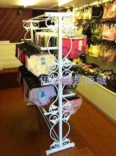 Yi Haotie art clothing display rack clothing display with Shelf Bra Panties underwear Island promotions