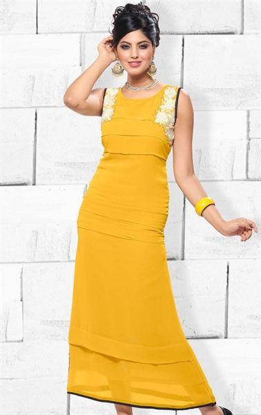 Picture of Admirable Yellow Designer Kurti