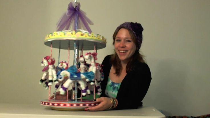 How to make a Diaper Carousel...puts diaper cakes to shame