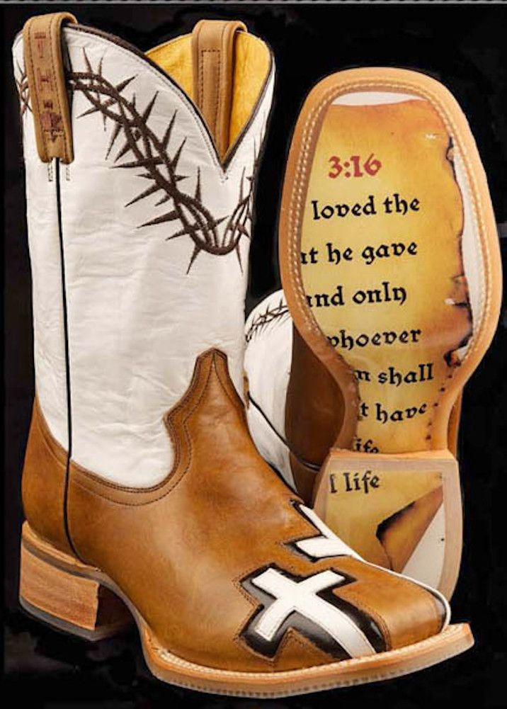 Tin Haul Mens Between Two Thieves 3:16 Brown Western Cowboy Boots