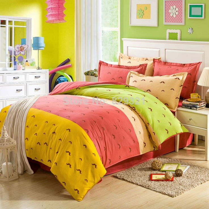 happy weekend bed sheets linen hot sale queen bed duvet quilt cover pillowcase sets 100