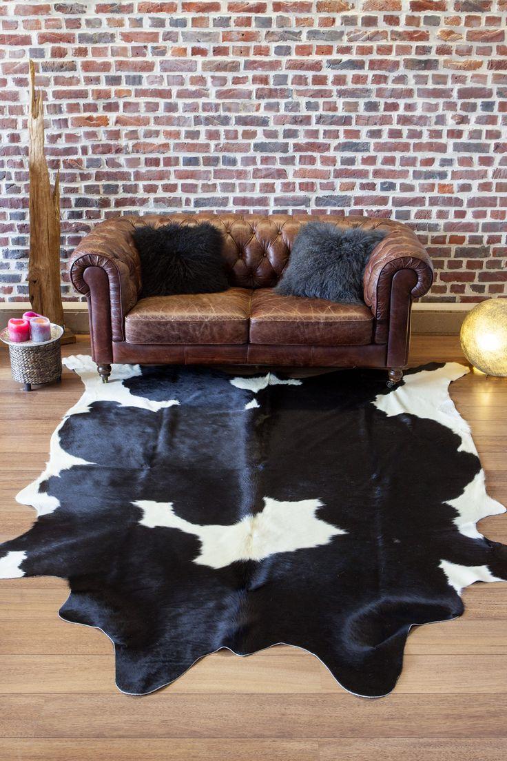 Peau de vache tachetée noir et blanc http://www.maison-thuret.com/