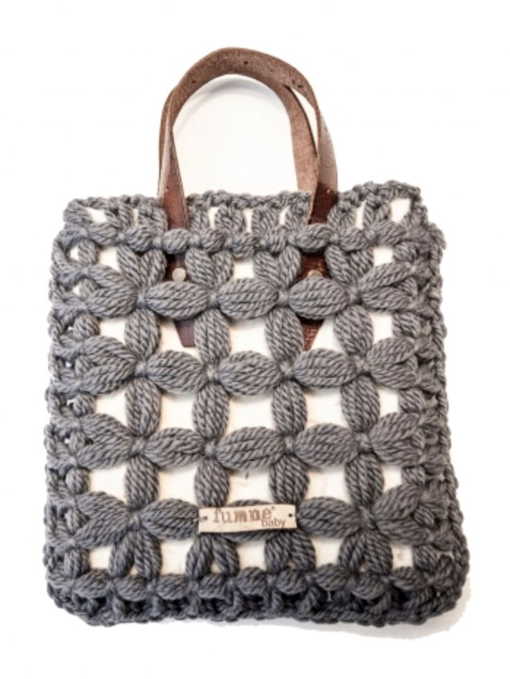 What about a crochet or macrame bag?
