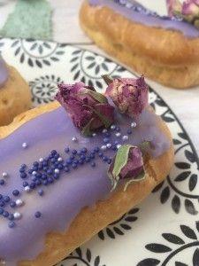 Eclairs Rezept Vanille lila