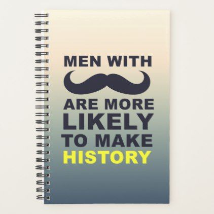 Cool Mustache Quote Typography Planner - funny quote quotes memes lol customize cyo