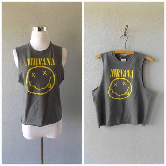 camiseta Nirvana grunge  reciclado de los 90 rock banda de