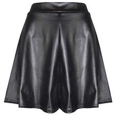 With high waisted black leather skater skirt?