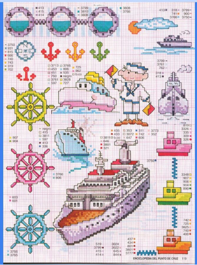 Nautical Free Cross Stitch Pattern Chart