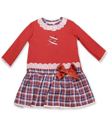 Vestido escoces para Bebe niña de Dulce de Fresa.