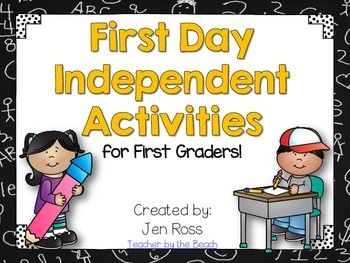 My students trickle in on the first day, so I am not able to do an activity with them all at once. I needed something for them to do independently while I talk to other students, parents, and handle supplies. These activities are ones that they love to doLooking for a 2nd Grade version?