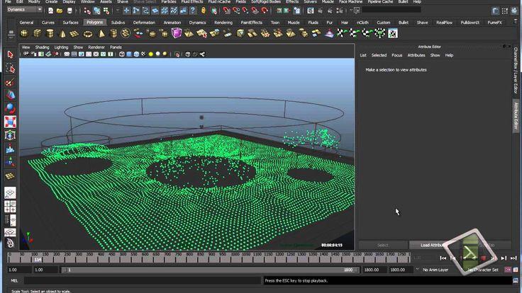Maya 3D - Particle in Maya (Basic).Part 1a - ParticleTool