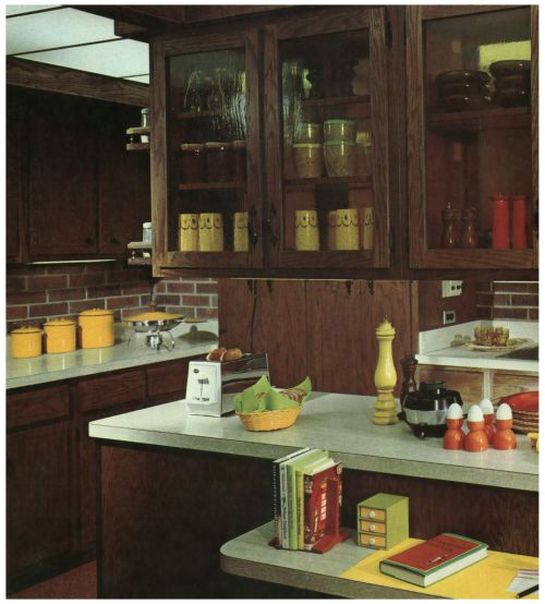 264 best 70 39 s pad images on pinterest vintage decor for Thick kitchen wallpaper