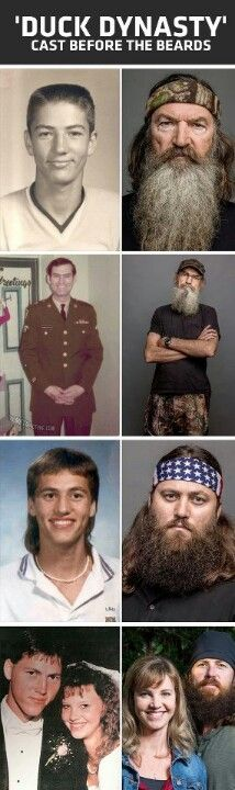 Duck Dynasty Before the Beards - wow ! They really need to shave!