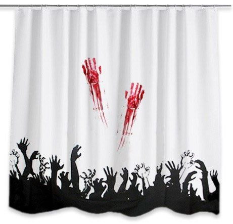 Horror Bloody Hands Zombie Shower Curtain.