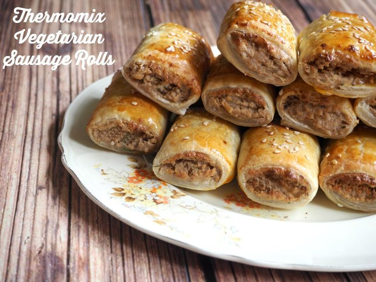 """Makes 24 I contemplated calling these """"I can't believe they're not meat"""" Sausage Rolls because that's what everyone says when they devour them!They look like meat, th…"""
