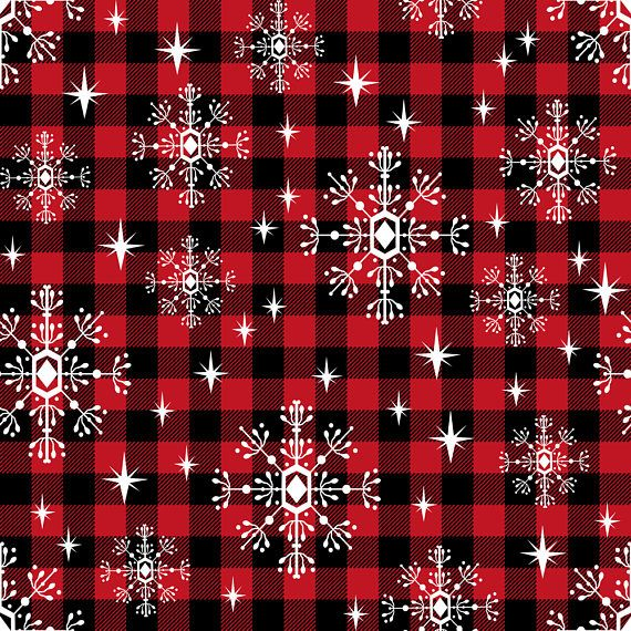 Christmas Plaid Fabric Red Black Buffalo Plaid Snowflakes Etsy Cute Christmas Wallpaper Christmas Wallpaper Christmas Phone Wallpaper