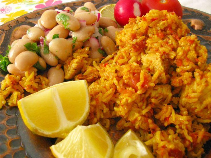 Nigérijská ryža s kuracími prsiami