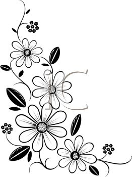 iCLIPART - Royalty Free Clipart Image of a Flower Corner