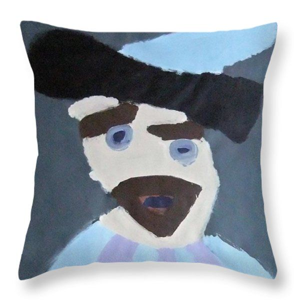 Throw Pillow featuring the painting Young Rembrandt In A Plumed Hat 2014 - After Rembrandt by Patrick Francis