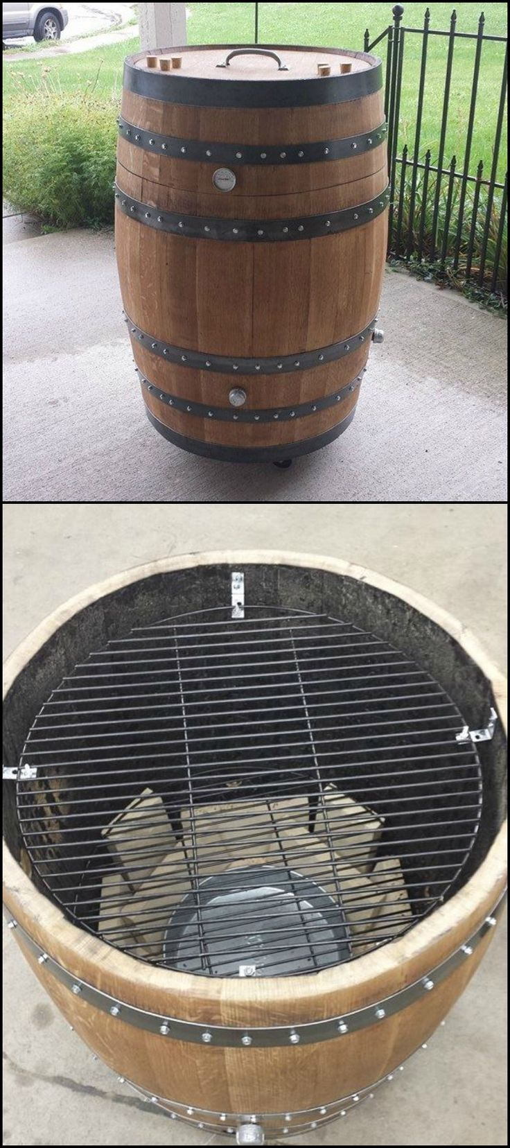 How to Build a Whiskey Barrel BBQ Smoker  http://diyprojects.ideas2live4.com/2015/06/06/how-to-build-a-whiskey-barrel-bbq-smoker/  Prettier than a drum barrel smoker, eh? Though its design is not the usual, it definitely functions well without any issues -- beauty AND function in one!  Do you have access to an empty whisky barrel? Then this should be your next project. :)
