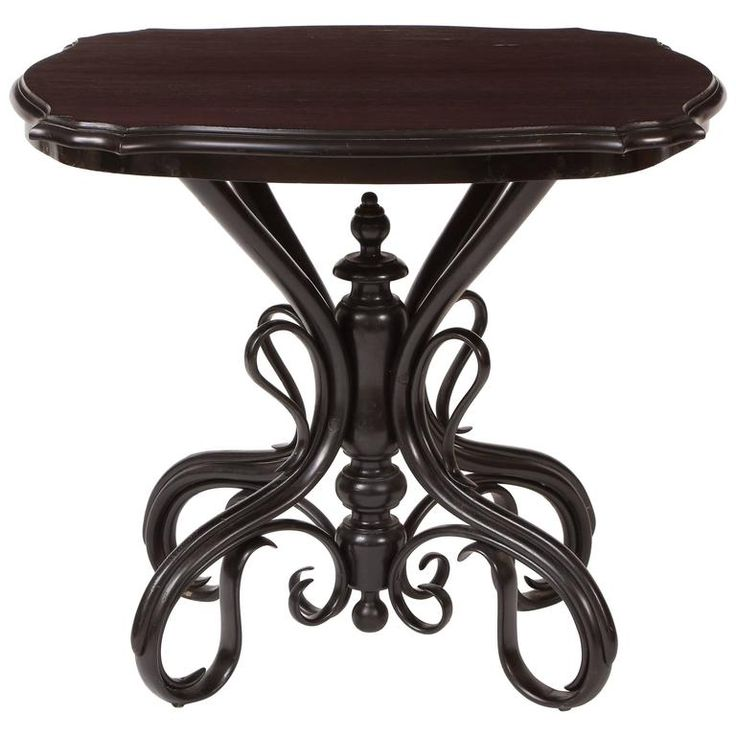 Austrian Ebonized Bentwood Table By Gebruder Thonet, Circa 1880