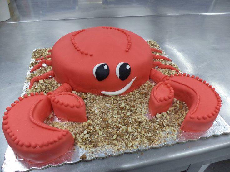 Crab figure cake