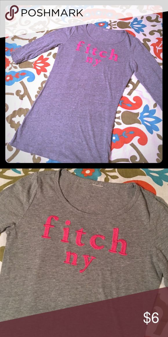 Abercrombie Girls small tee Abercrombie kids, small tee. My daughter cut the tag off because it was itchy but the shirt is in amazing condition!! 3/4 sleeve abercrombie kids Shirts & Tops Tees - Long Sleeve