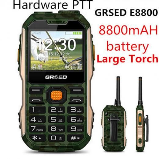 Rungee Walkie Talkie Phone Ptt 8800mah Big Battery Torch Dual Sim Fm Power Bank Gofly Blackberry Without Contract Black 128mb Network Unlocked 1.3mp