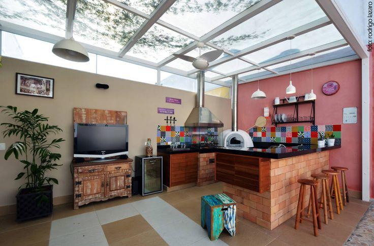 25 churrasqueiras de tijolinho para deixar sua casa rústica (De Nicole Nunes)