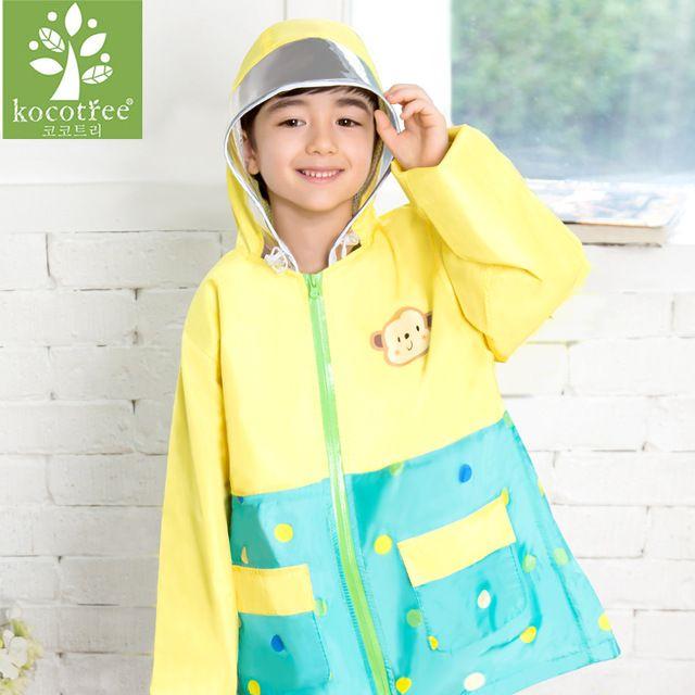 2-10 Year Old Cartoon Monkey Kids Raincoat Waterproof Baby Poncho Unisex Lovely Rain Suit 2017 Fashion Design Veste De Pluie