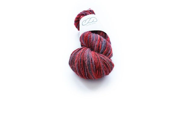 Ovilab Bright Skinnies Cherry Cordial Handspun by OvilabYarns