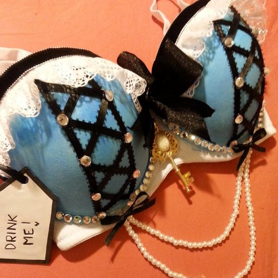Hey, I found this really awesome Etsy listing at https://www.etsy.com/listing/195975335/alice-in-wonderland-rave-bra