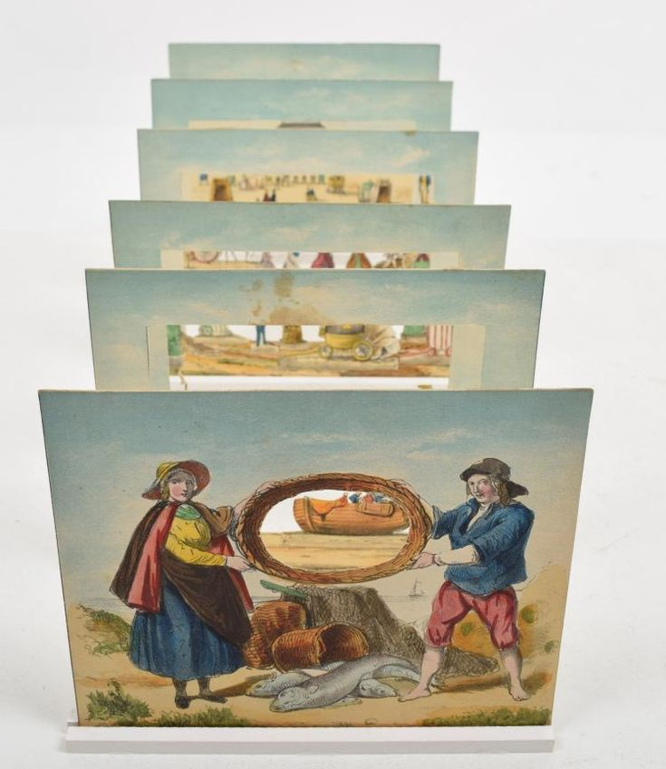 [Peepshow] Scheveningen H.L. van Hoogstraten, ca. 1860. 6 table-top tableaux together creating a diorama.