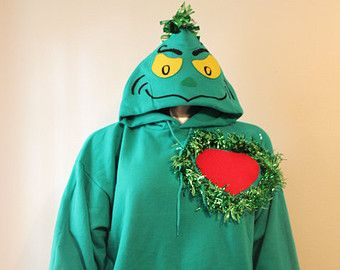 Grinch Christmas Sweater, Grinchmas, Womens and Mens Sweater, Ugly Christmas Hoodie, hooded sweater, hoody