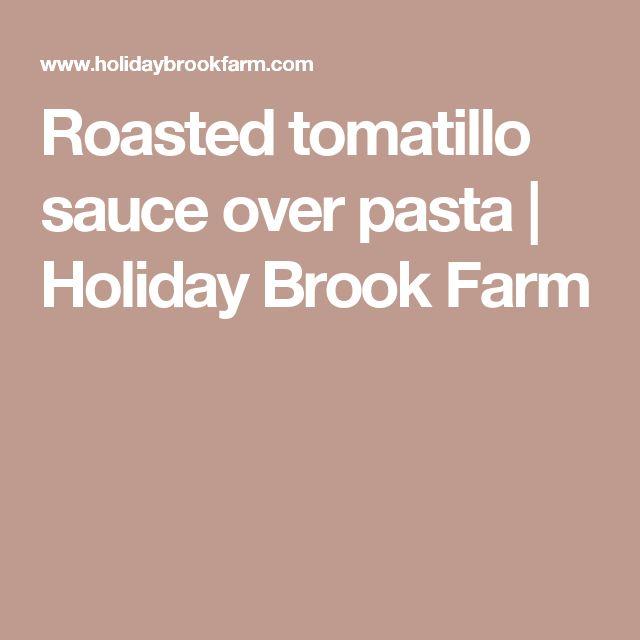 Roasted tomatillo sauce over pasta | Holiday Brook Farm