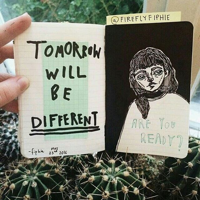 "2,417 Likes, 8 Comments - journal art (@perfectapologies) on Instagram: ""How's your day been? (cred: @fireflyfiphie)"""