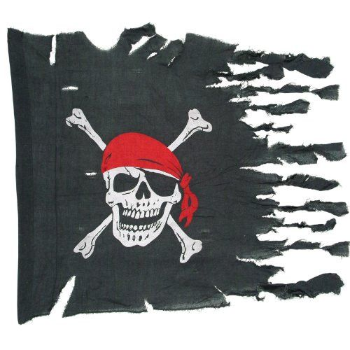 """Weathered pirate flag is made of highest quality raw materials for durability. Flag measures 29"""" x 3'4"""" and is ideal for pirate parties. High quality decorative for festive occasions."""