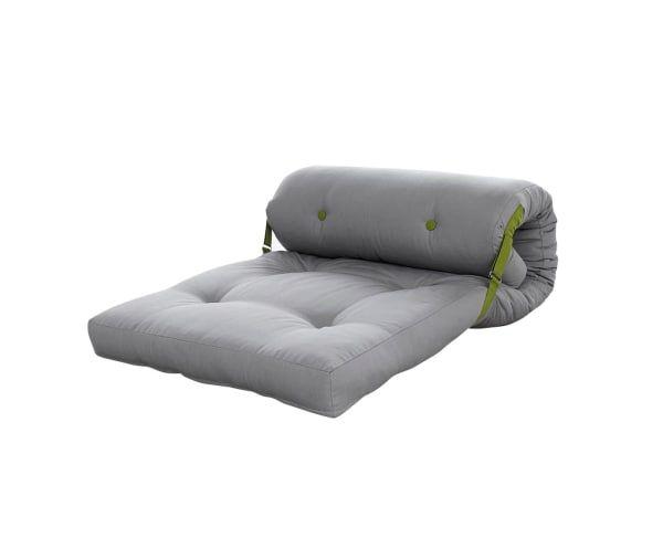 Colchón futón enrollable Roller, visón y lima - 70x200 cm                                                                                                                                                                                 Más