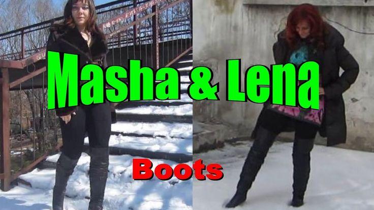 Lovely Ladies - sexy heels, high boots - #007: Masha and Lena (Overknee-...