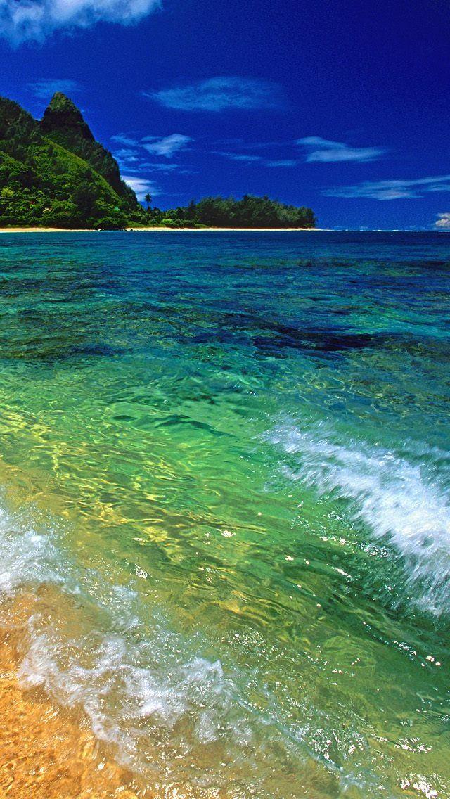 Tunnels Beach Kauai Hawaii #iPhone #5s #Wallpaper   iPhone 5~SE Wallpapers   Tunnels beach kauai ...