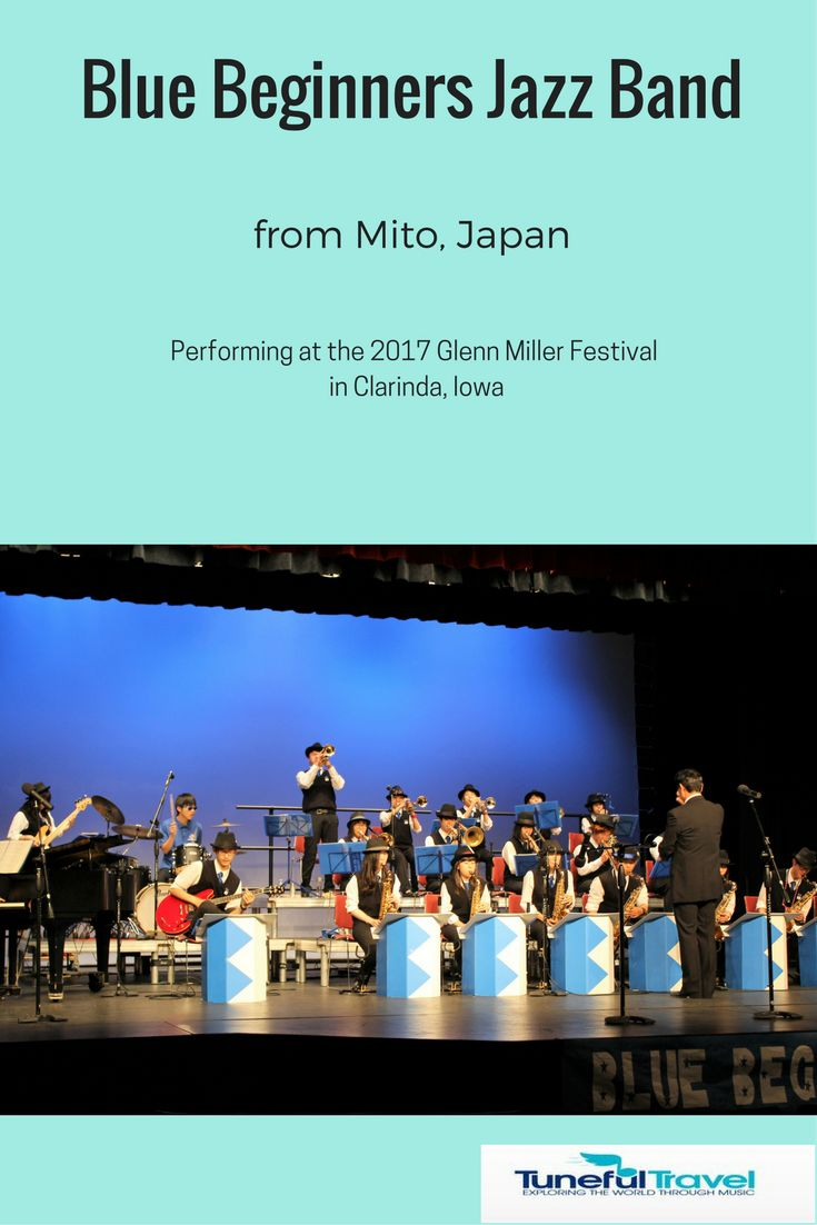 The Blue Beginners jazz band, a group of students from Mito Technical High School in Japan, performed on June 11, 2017 in Clarinda, Iowa. Read my review of their performance at http://tunefultravel.com/banish-the-blues-with-the-blue-beginners-jazz-band/