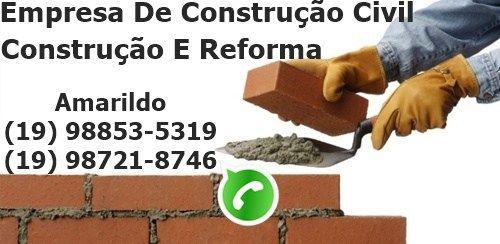 Serviços De Pedreiro (19) 98853 – 5319 / WhatsApp (19) 98742 – 9426, Construção, Reforma De Casas EM Campinas, Construção Civil Em Geral.